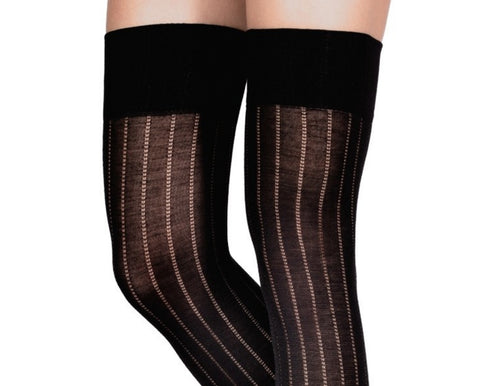 Over-The-Knee Ribbed Woolen Tights by Emilio Cavallini