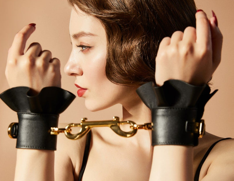 Leather Lacelike Handcuffs by ZALO & UPKO
