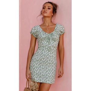 Fashion Women Lady Off Shoulder Wrap Dress Floral Ruffle Summer Womens Dress Hot - Swans Today