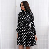 Fashion Leopard Print Party Dresses Elegant vintage Polka Dot Dress Women Sexy Club Mini Dress Female Vestidos