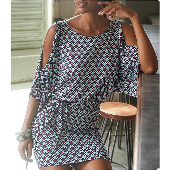 Wide Sleeve Dress 2020 Women Street Style O Neck Mini Vintage Bodycon Dress 2020 Batwing Sleeve Sexy Office Hollow Out Sexy Natural Belt Dress