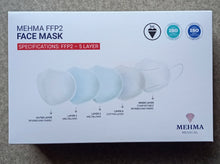 Load image into Gallery viewer, N95 FFP2 mask :10-pack (ISO certified)