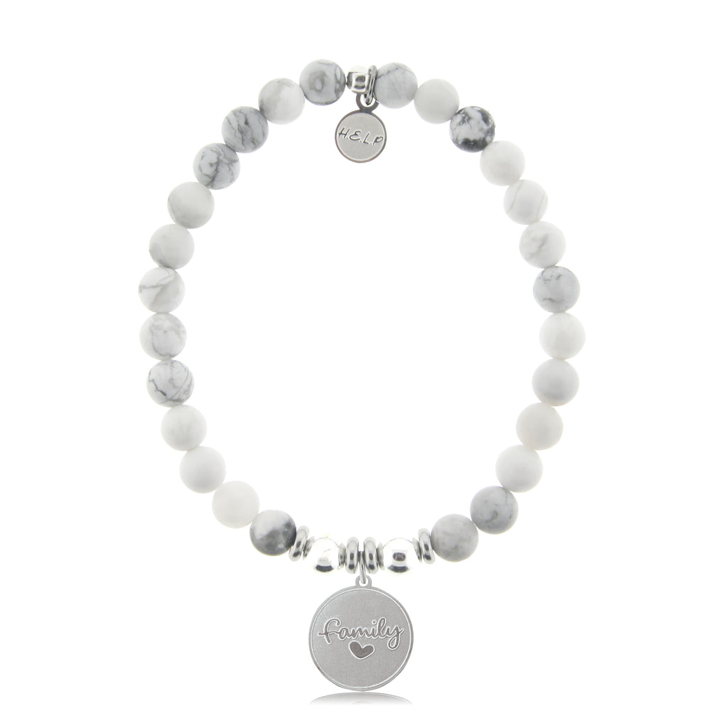 HELP by TJ Family Charm with Howlite Beads Charity Bracelet