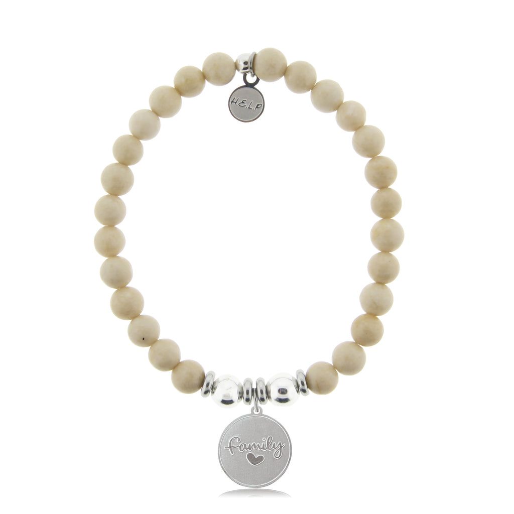 HELP by TJ Family Charm with Riverstone Beads Charity Bracelet
