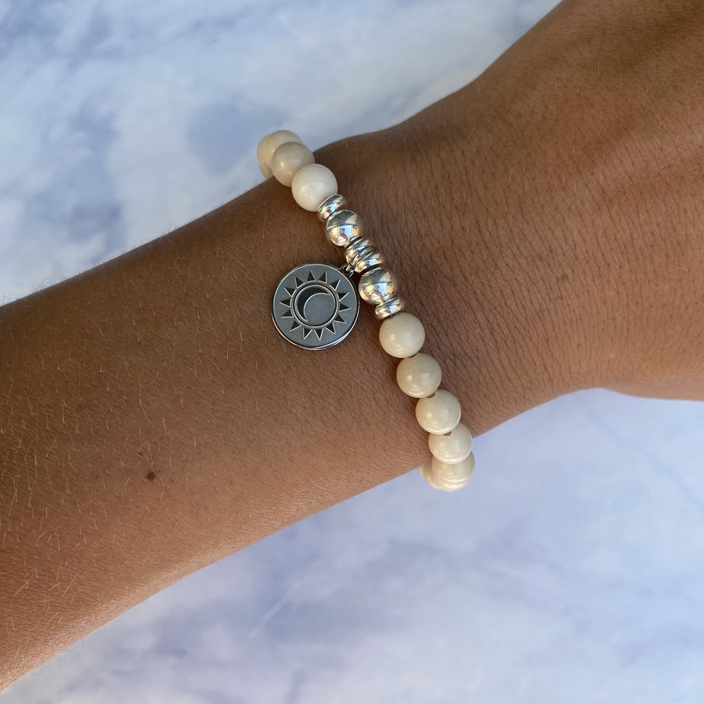 HELP by TJ Sun and Moon Charm with Riverstone Beads Charity Bracelet