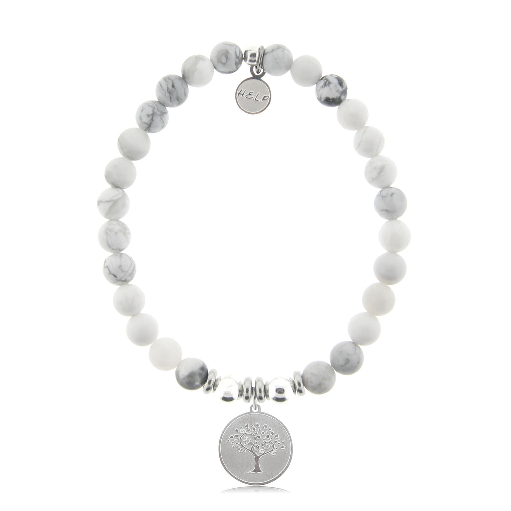 HELP by TJ Tree of Life Charm with Howlite Beads Charity Bracelet