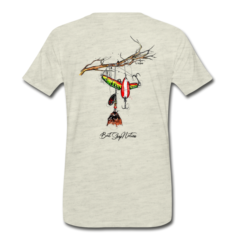 Lure Tree T-Shirt BSN - heather oatmeal