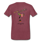 Lure Tree T-Shirt BSN - heather burgundy