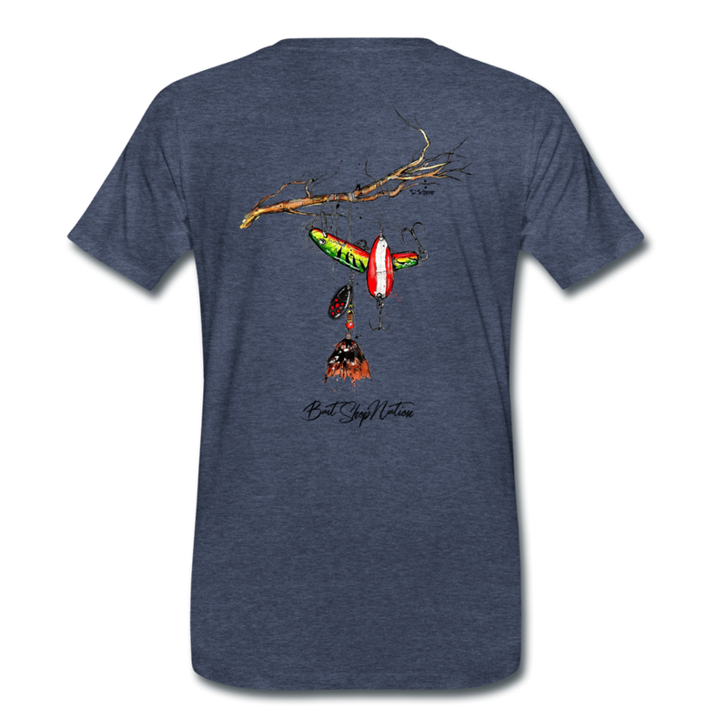 Lure Tree T-Shirt BSN - heather blue