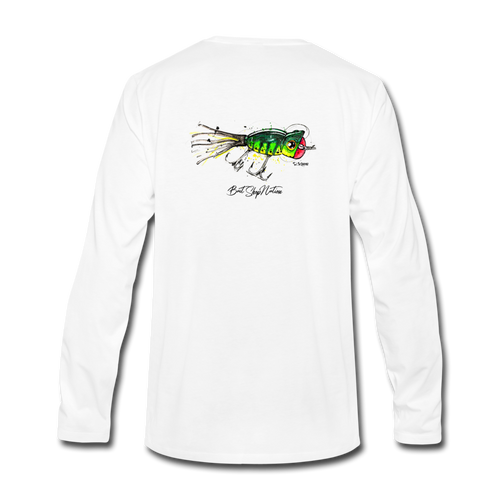 Hula Popper Cotton Long Sleeve T-Shirt BSN - white