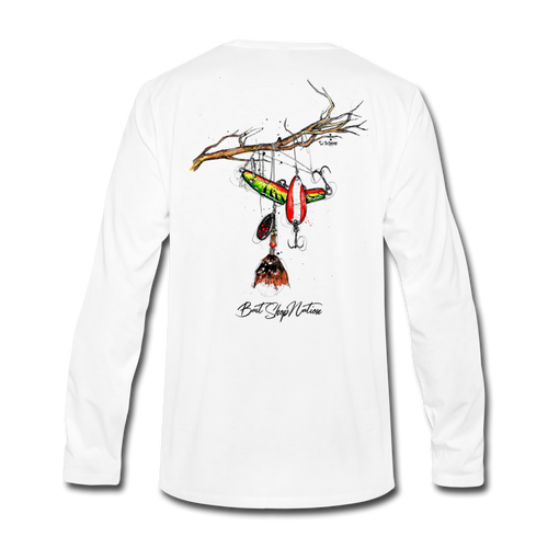Lure Tree Cotton Long Sleeve T-Shirt BSN - white