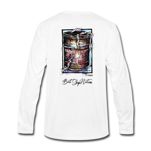 Can O' Worms Cotton Long Sleeve T-Shirt BSN - white