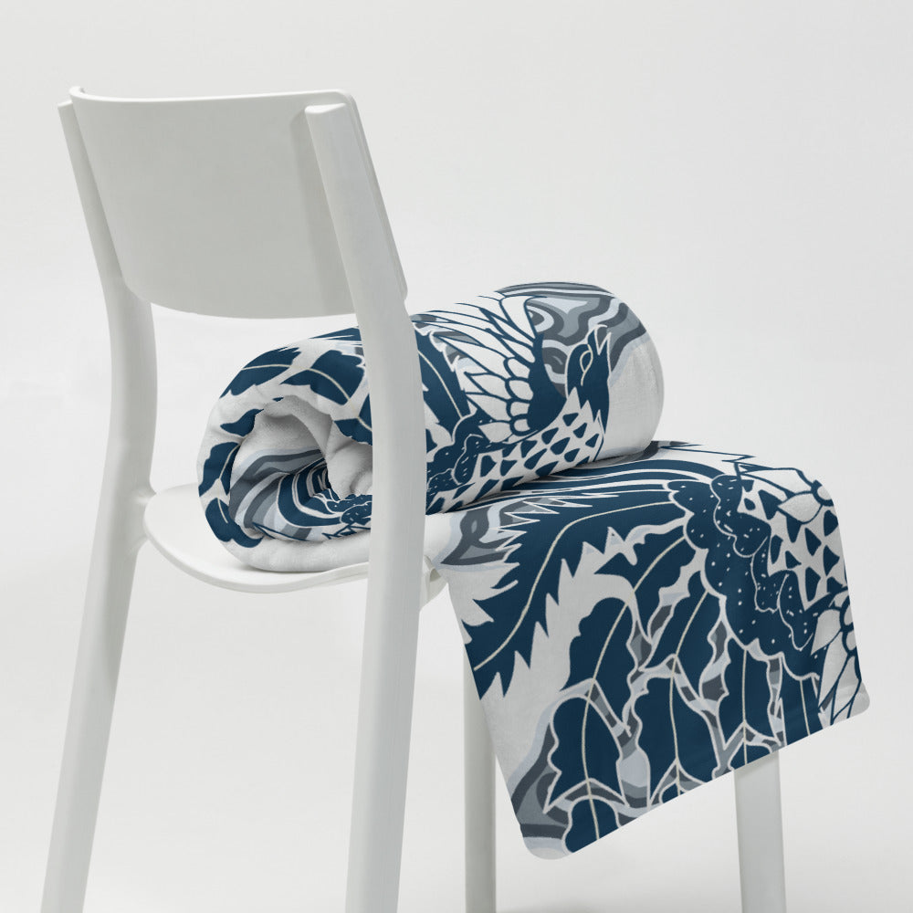 Throw Blanket Bird of Paradise by  Rumago Accents