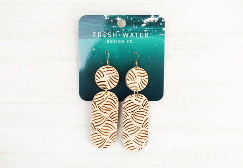 """Make Some Waves"" Leather Earrings"
