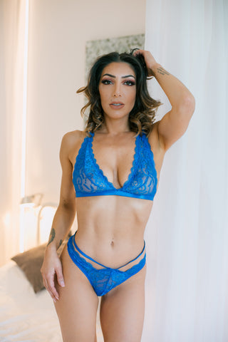 SOH Royal Blue Bra & Thong Set