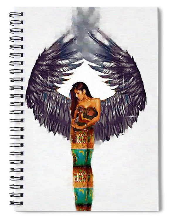 Angel #4 - Spiral Notebook