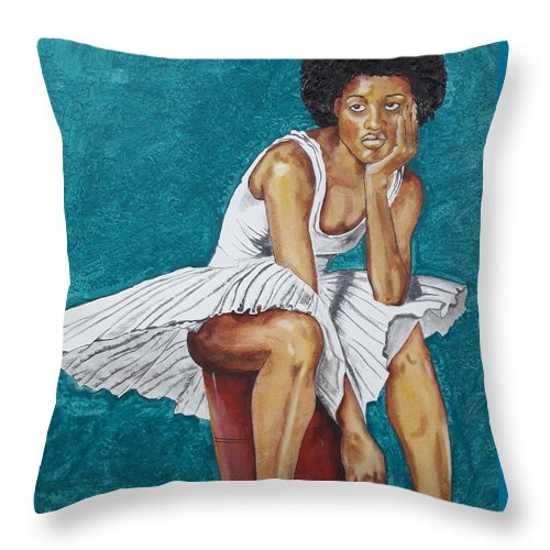 Dancer at rest #3 - Throw Pillow