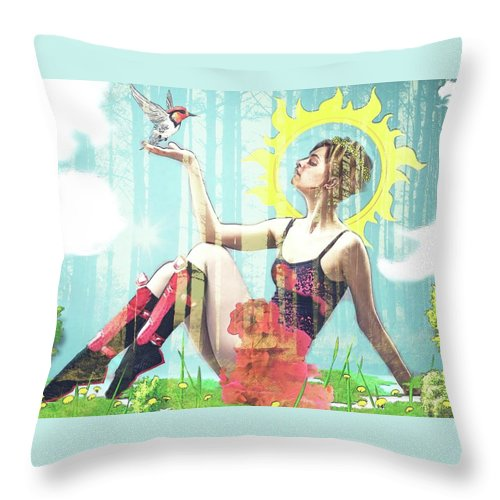 Dancer at rest #8 - Throw Pillow