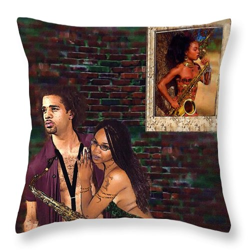 Sax Man #1 - Throw Pillow