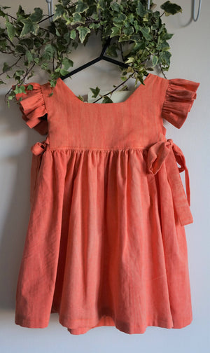 Olivia Dress - Handmade - Orange