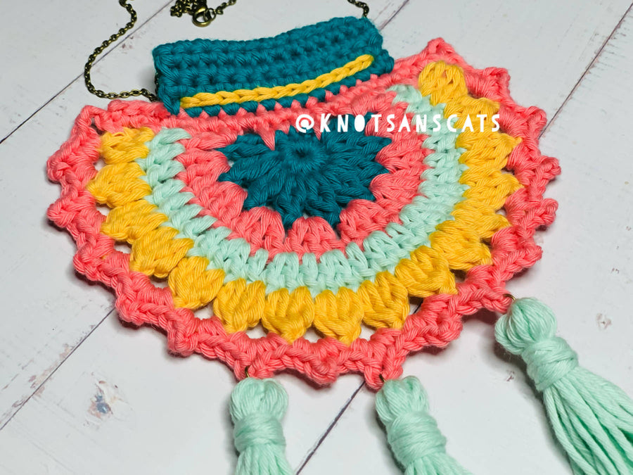 Boho Style Handmade Necklace with chain