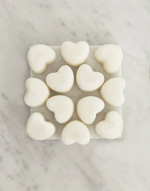 Aromatherapy Set of 12 Heart Shaped Peppermint, Eucalyptus & Pine Naturally Scented Wax Melts with Organic Essential Oils