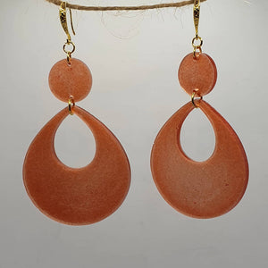 Large Teardrop Resin Earrings