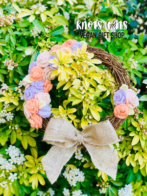Rustic Rose Wreath