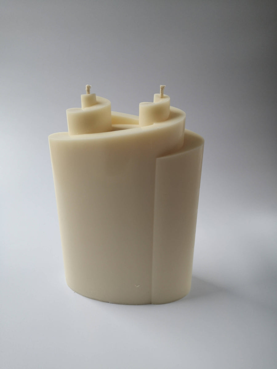 Rapeseed wax candle DOUBLE SPIRAL