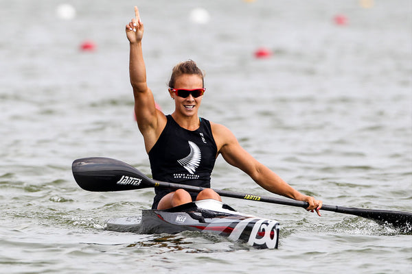 Lisa Carrington sets the new World Record for the K1W 200m in Russia