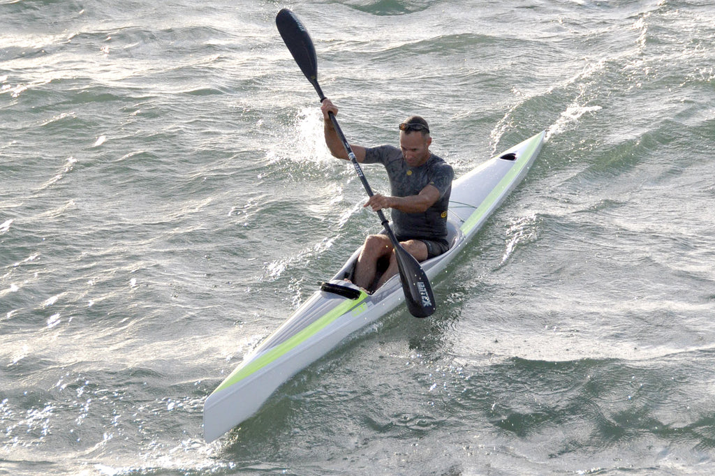 Garth tests the Nelo 650 Surfski