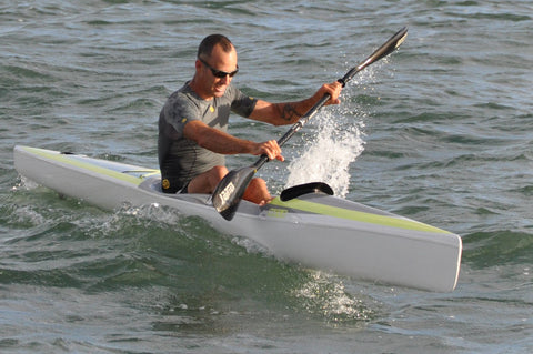 Garth playing around in the Nelo 560 Surski