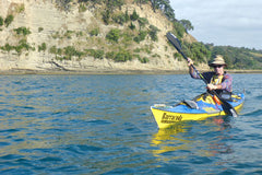Gerard paddling with his Jantex paddle