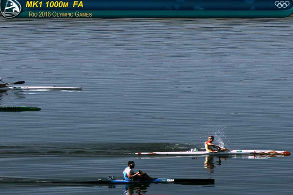 K1M 100m A Final finish line shot thanks to Rio Olympics