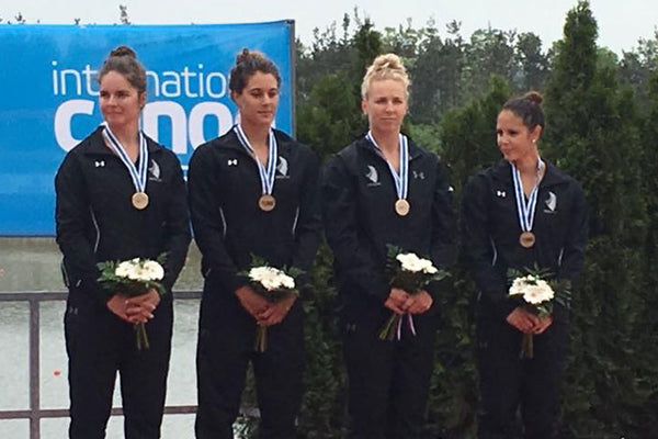 NZ Team win a bronze medal WK4 500m at ICF Canoe Sprint World Cup Round 2, Racice.