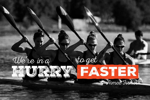 The NZ K4 Womens team are in a hurry to get faster