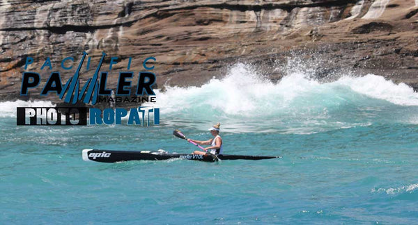 Race Clarke takes second place in women's solo division at Molokai 2016