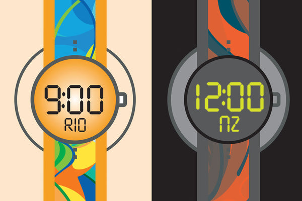 Time difference between Rio and Auckland