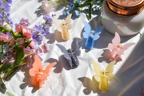 Jelly Butterfly Hair Clips