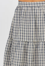 Load image into Gallery viewer, Erin Plaid Prairie Skirt