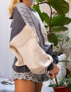 Maggie Patch Knit Sweater