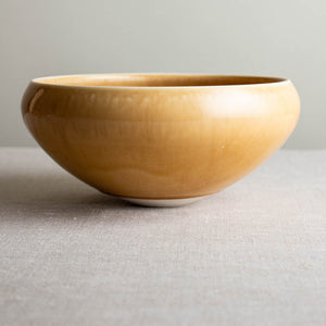 Butterscotch Bowl with Curled Rim