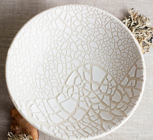 White Lichen Floating bowl