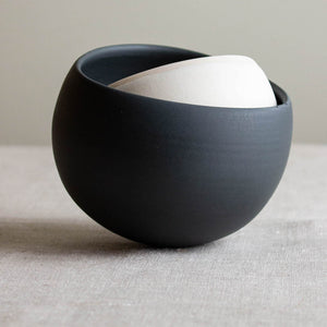 Black and White Wobble Bowl