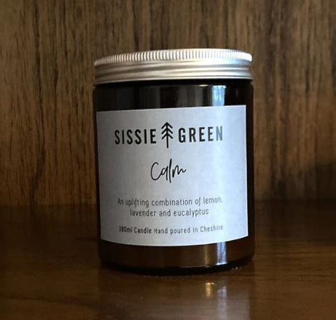 best scented candles for aromatherapy - calm candle by Sissie Green available to buy at www.wicksandreeds.com