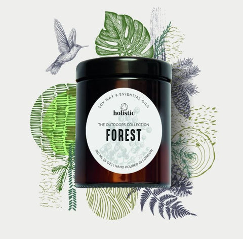 aromatherapy candle - forest by hollistic london  - buy at www.wicksandreeds.com