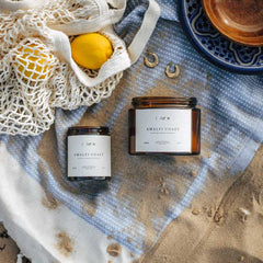 Amalfi Coast - Lemon scented candle, reed diffuser & soy wax melts by The Wild Botanist - available to buy at www.wicksandreeds.com