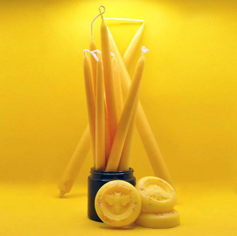 100 % Pure Beeswax Candles - air purifying natural beeswax candles for sale on www.wicksandreeds.com