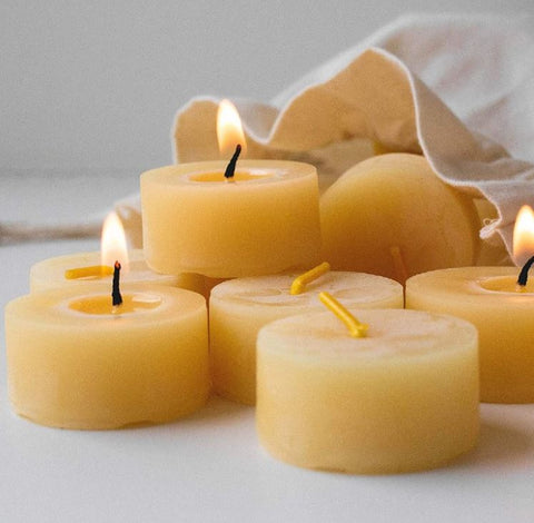 english beeswax tea light candles buy at wicks and reeds