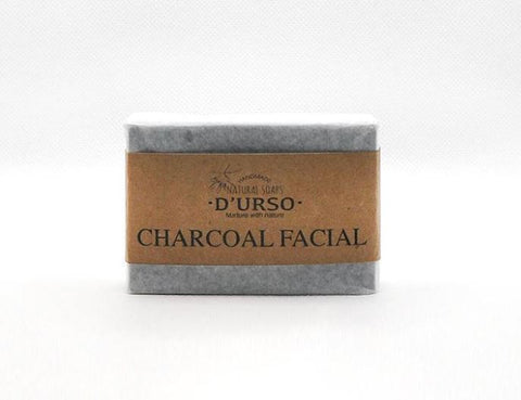 100% Activated Charcoal soap bar with Tea Tree -  best soap for acne and oily skin